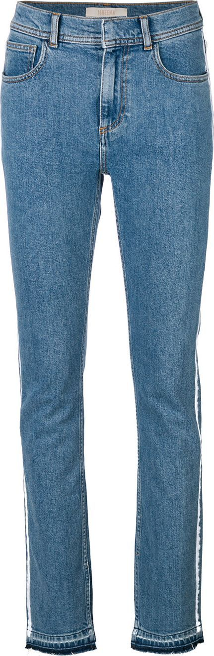 Ssheena Jolly painted stripe jeans