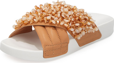 Tory Burch Logan Embellished Pool Sandal