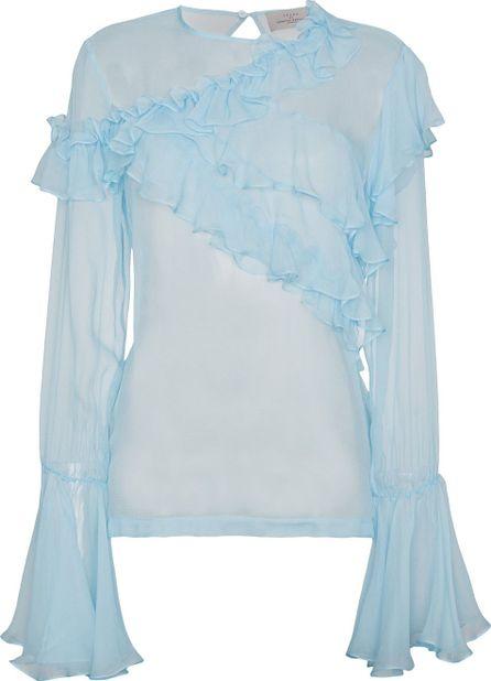 Preen Marika ruffled silk blouse