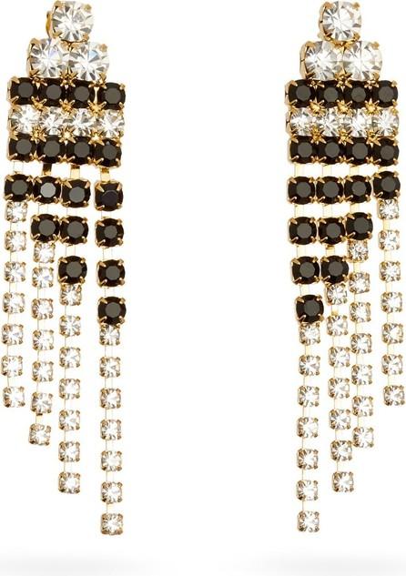 Rosantica Domino crystal-embellished drop earrings