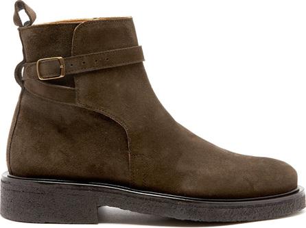 AMI Buckle-strap suede boots