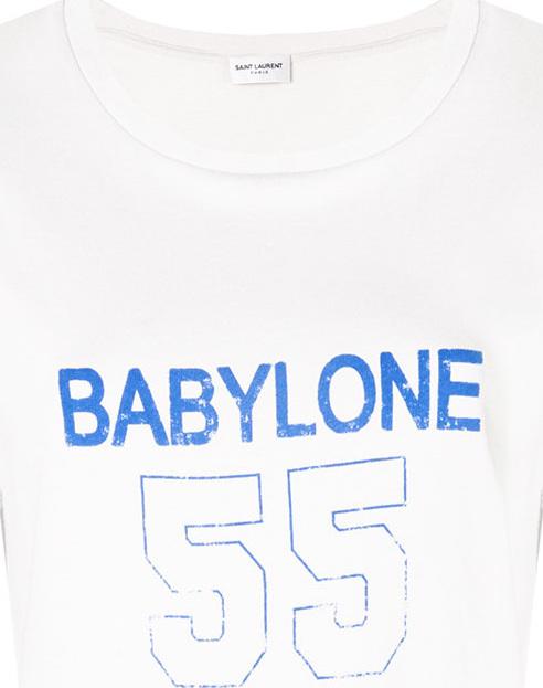 Saint Laurent - Babylone print T-shirt