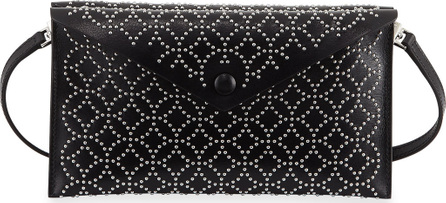 Alaïa Studded Dual-Flap Crossbody Bag