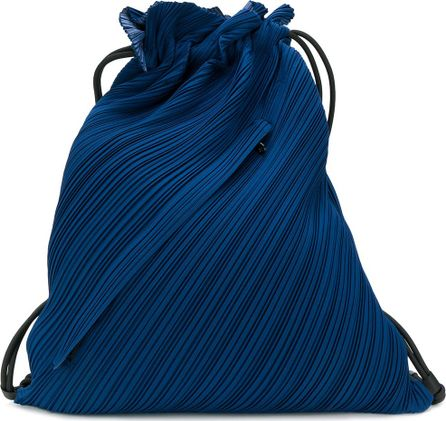 Pleats Please By Issey Miyake textured drawstring bag