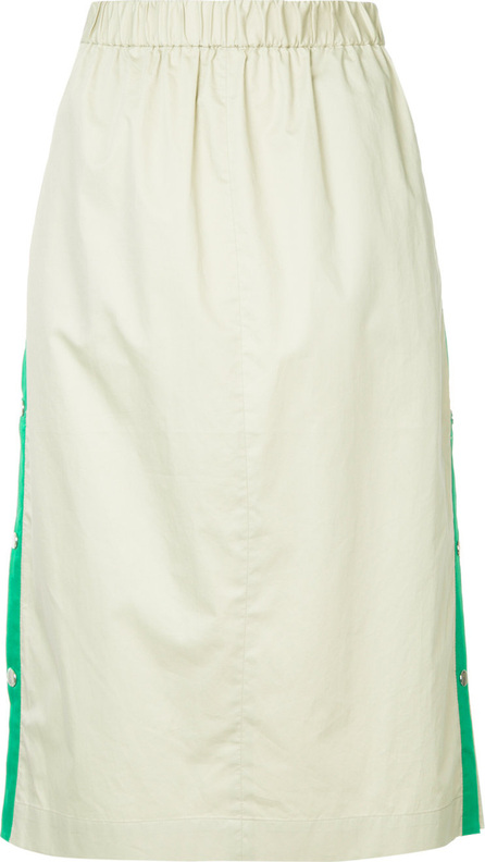 Tibi Side stripe snap skirt