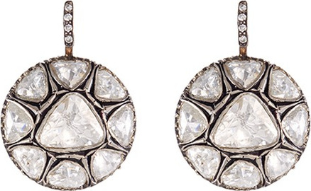 Aishwarya Diamond gold alloy circular drop earrings