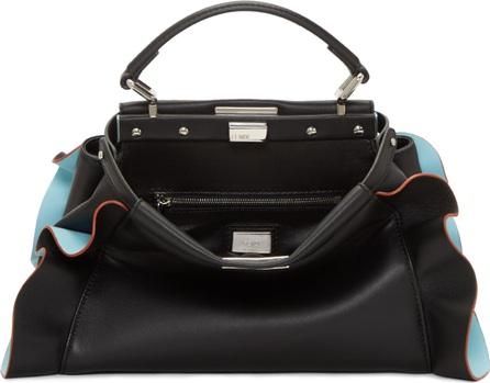 Fendi Black & Blue Mini Peekaboo Bag
