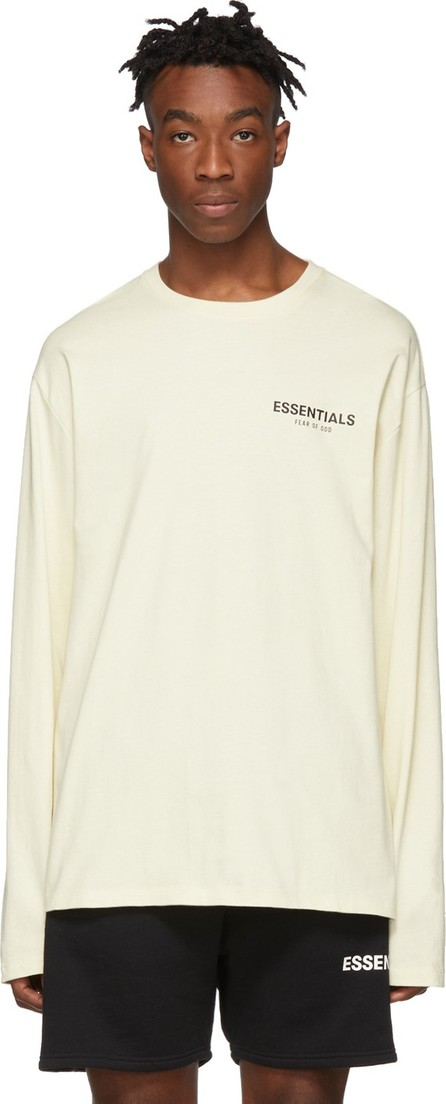 Essentials Off-White Logo Long Sleeve T-Shirt