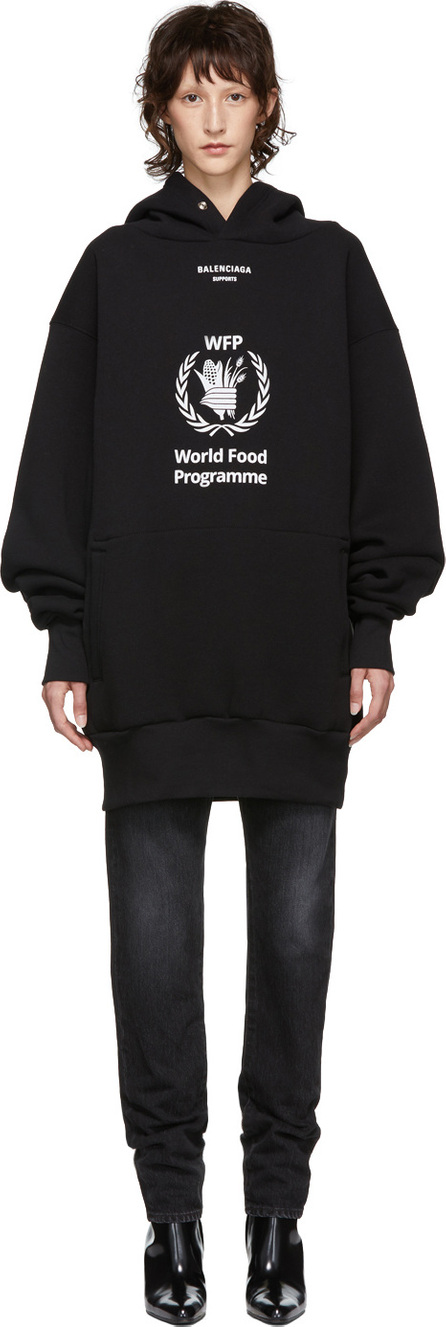 Balenciaga Black World Food Programme Hoodie