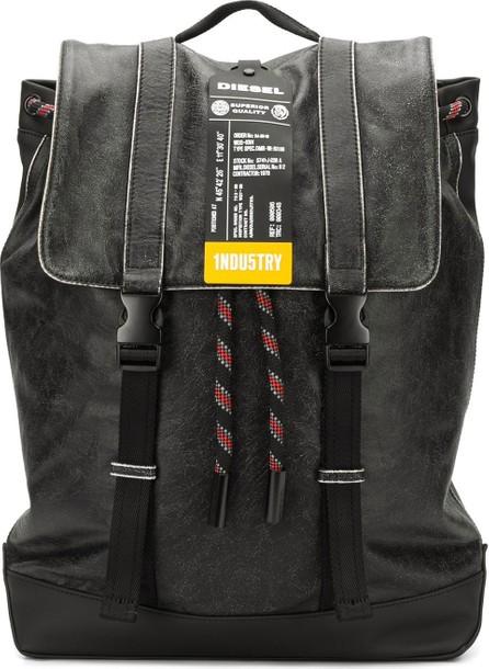 Diesel Crinkle-leather backpack