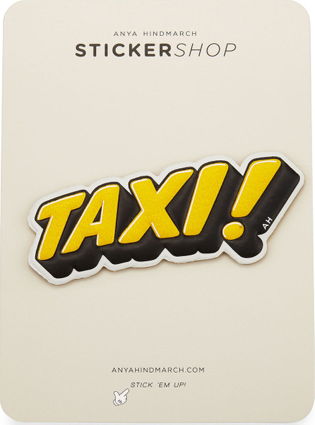 Anya Hindmarch Taxi! Sticker for Handbag, Yellow