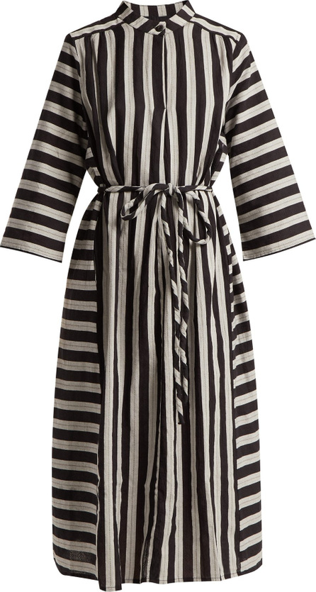 ace&jig Casey striped cotton midi dress