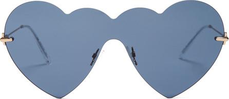 Christopher Kane Heart-shaped rimless sunglasses