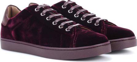 Gianvito Rossi Low Top velvet sneakers