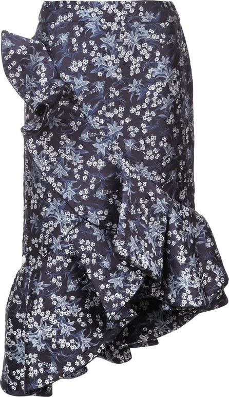 Johanna Ortiz Ruffle detail floral print skirt
