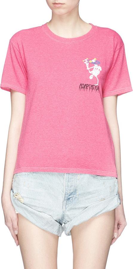 Adaptation Logo skull skater print T-shirt