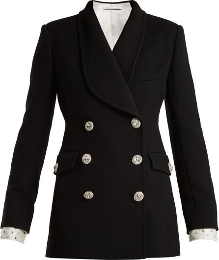 Alessandra Rich Double-breasted Swarovski button blazer