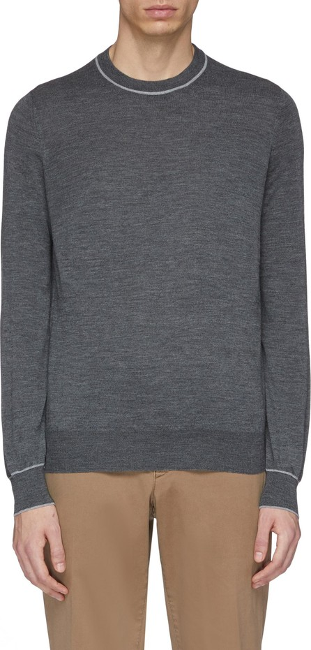 Brunello Cucinelli Stripe border virgin wool-cashmere sweater