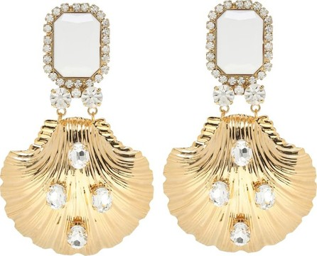Alessandra Rich Crystal drop clip-on earrings
