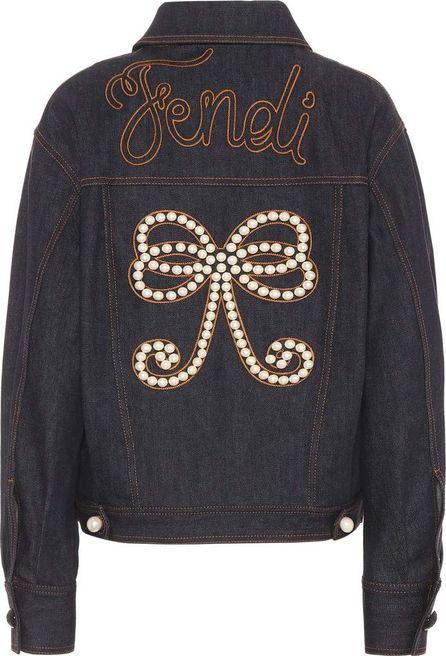 Fendi Embellished denim jacket