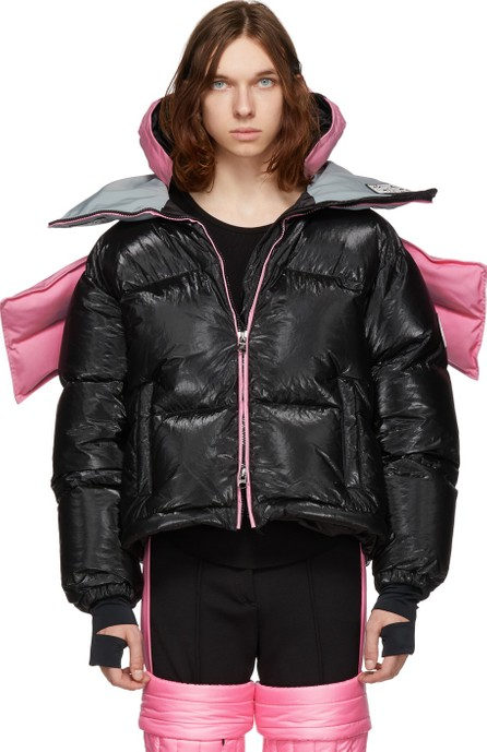 Colmar A.G.E. By Shayne Oliver Pink & Black Down Tyvek Concept Coat