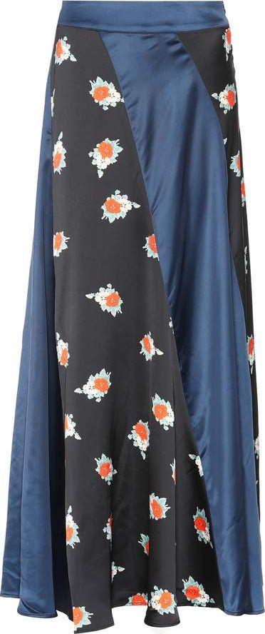 Ganni - Glenmore printed satin skirt
