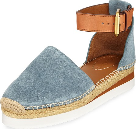 See By Chloé Suede Flat Wedge Espadrilles