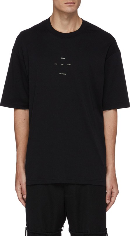 Song for the Mute Logo oversized cotton T-shirt