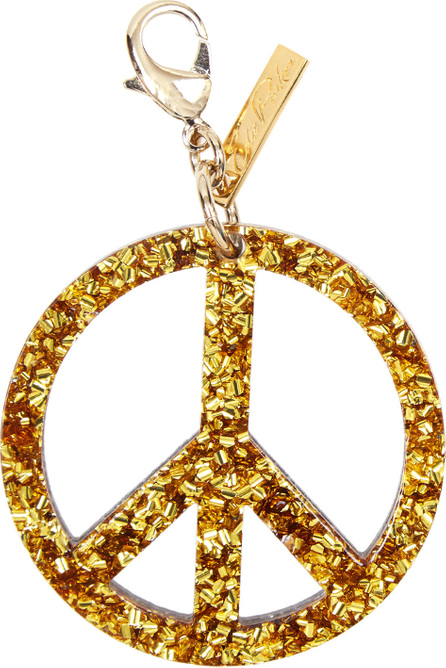 Edie Parker Peace Sign Speckled Bag Charm