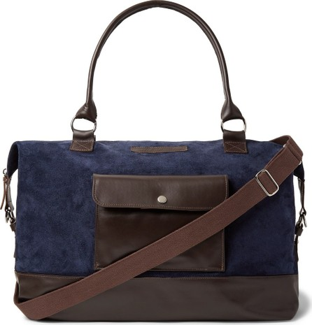 Oliver Spencer Leather-Trimmed Suede Holdall