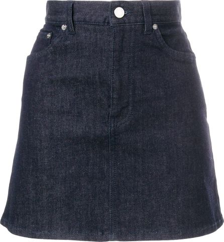 Givenchy Logo strap denim skirt