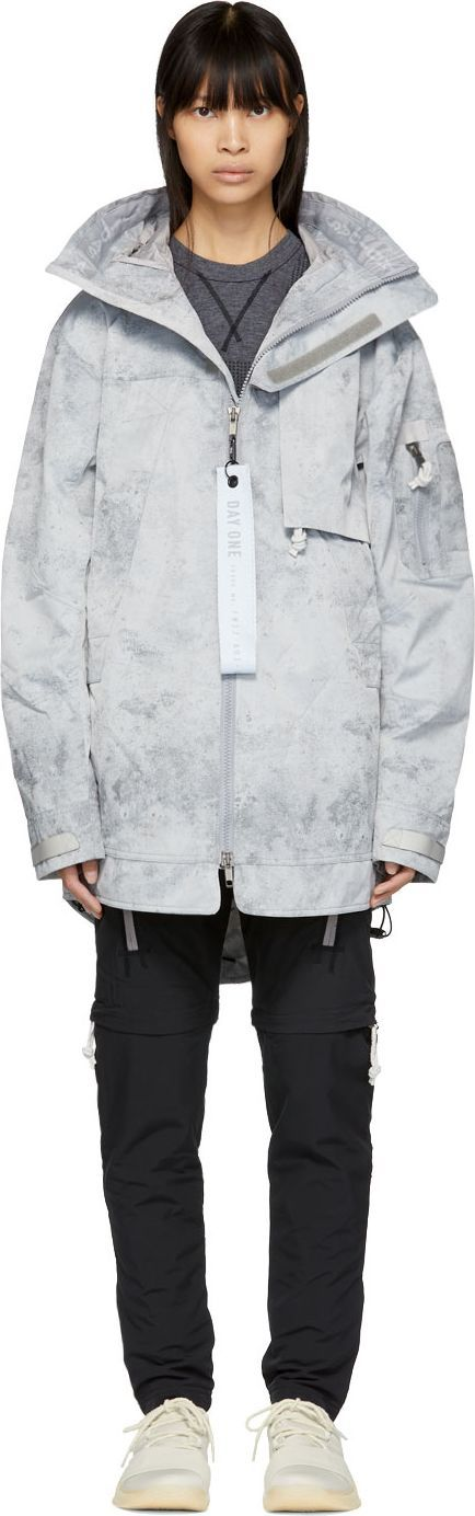adidas DAY ONE Grey Three-Layer Parka