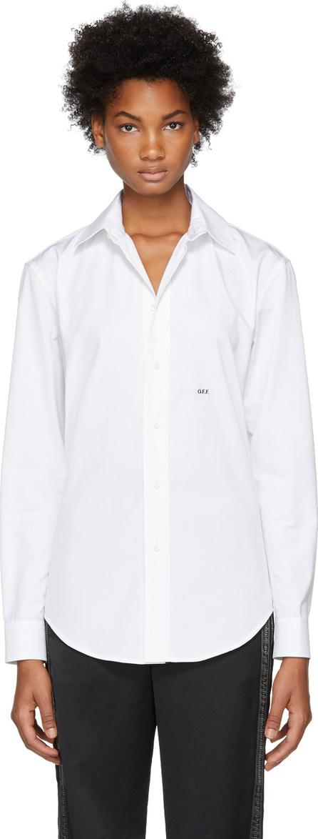 Off White White Basic Logo Shirt