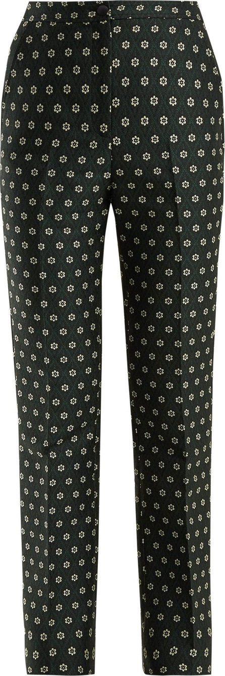 Alexachung Straight-leg floral-jacquard trousers