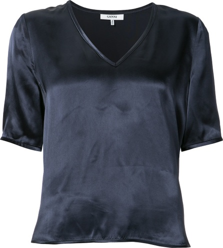 Ganni V-neck blouse