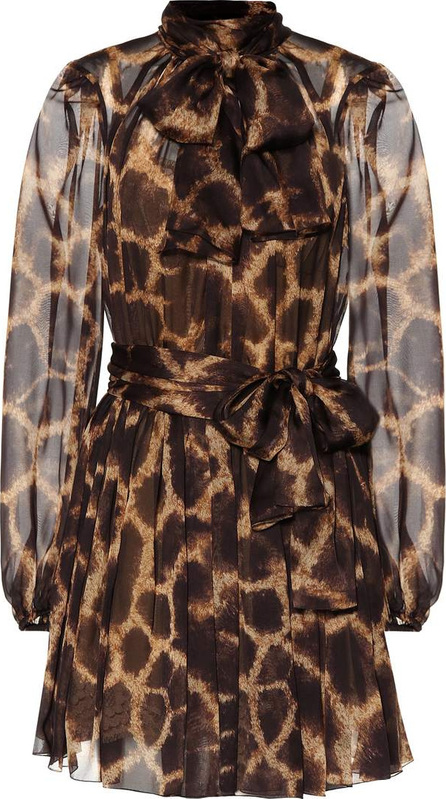 Dolce & Gabbana Printed silk minidress
