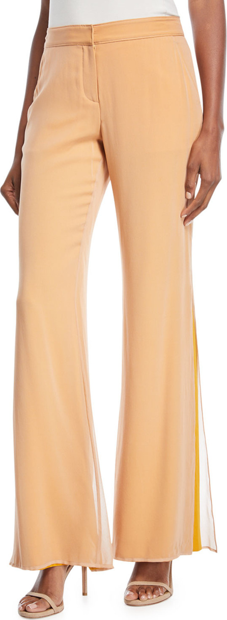 A.L.C. Victor Layered Flared-Leg Silk Pants