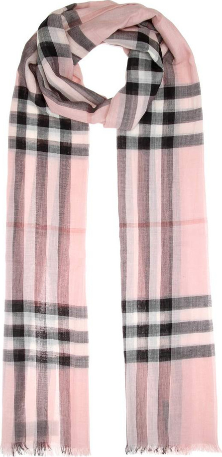 Burberry London England Giant Check wool and silk scarf