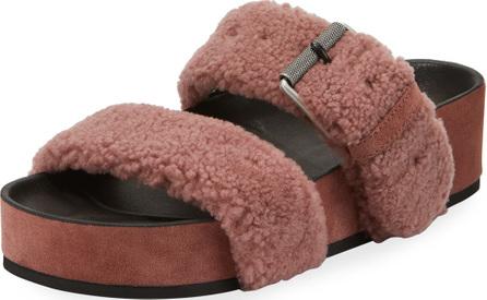 Rag & Bone Evin Platform Fur-Strap Sandal