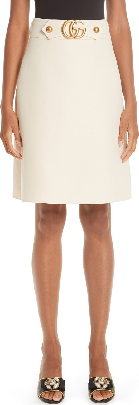 Gucci Marmont Wool & Silk Cady Crepe A-Line Skirt