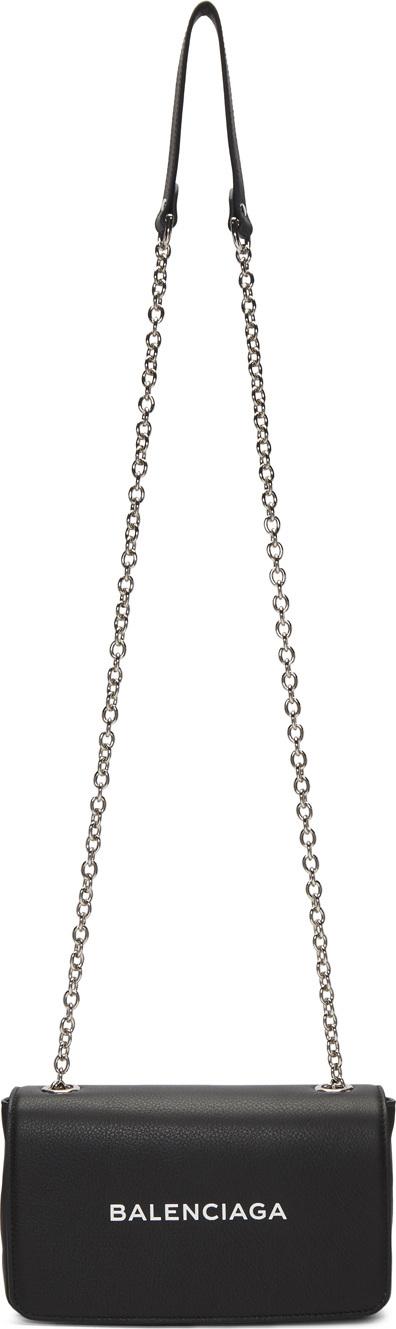 Balenciaga Black Everyday Chain Wallet Bag