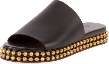 Chloe Sawyer 30MM Flatform Sandal with Gold Studs on Bottom