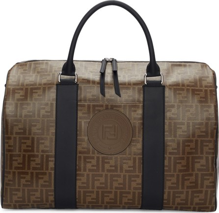 Fendi Brown 'Forever Fendi' Travel Duffle Bag
