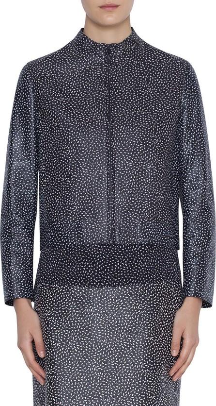 Akris Punto Memphis Pastina Printed Napa Leather Jacket