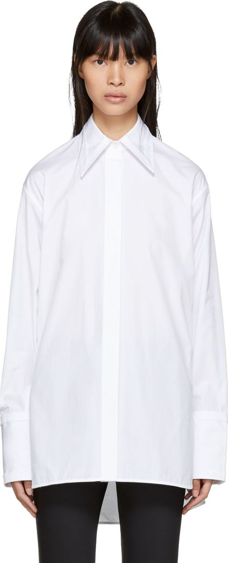 Helmut Lang White Cut-Out Shirt