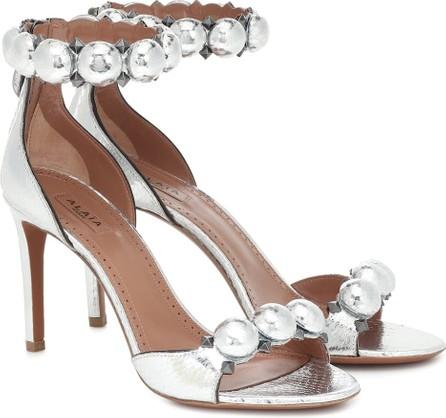 Alaïa Bombe embellished snakeskin sandals