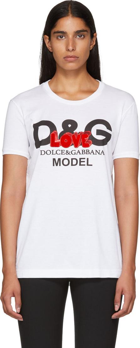 Dolce & Gabbana White 'Love' Logo T-Shirt