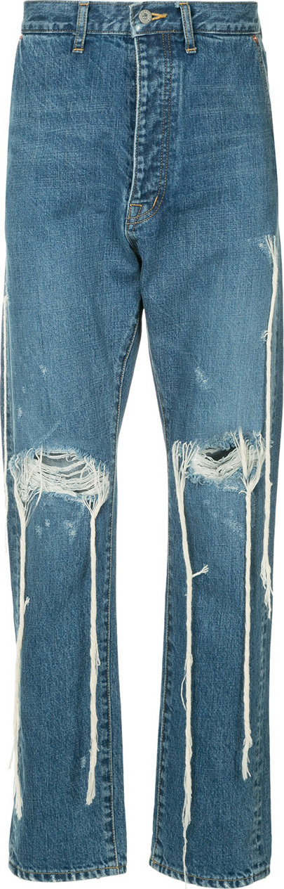 Doublet Distressed straight leg jeans