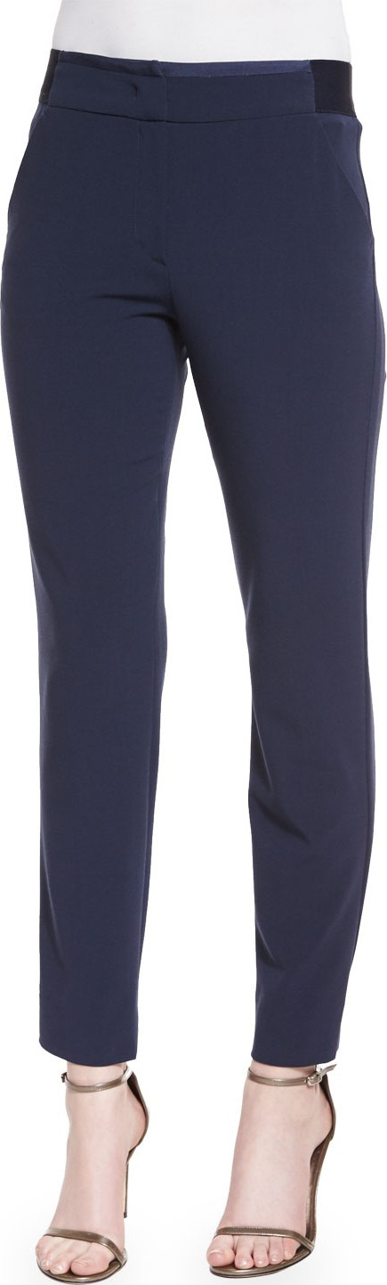 Armani Collezioni Mid-Rise Skinny Pants, Navy