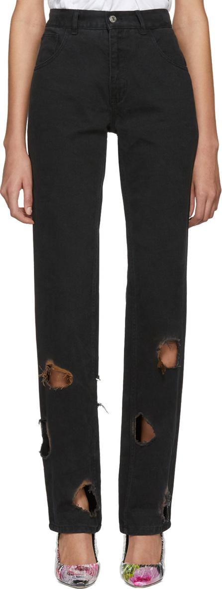 Ottolinger SSENSE Exclusive Black Burnt Jeans